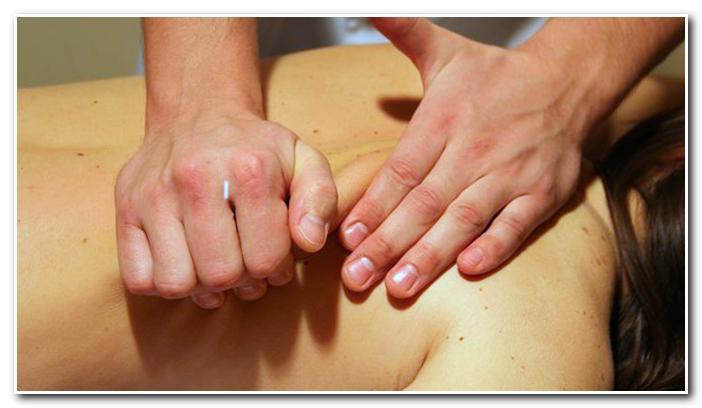 Приемы массажа. Разминание