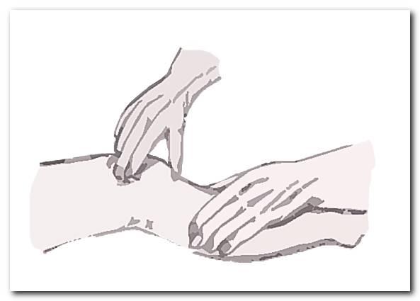 Растирание пальцами одной руки