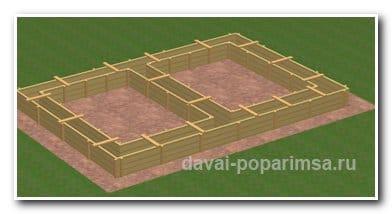 Ленточный фундамент для бани – изготовление опалубки
