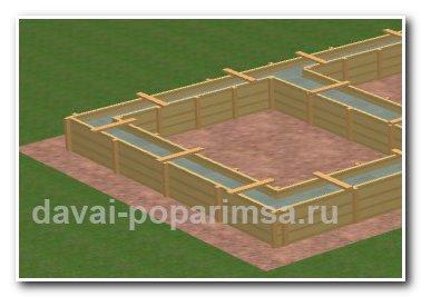 Строим ленточный фундамент для бани