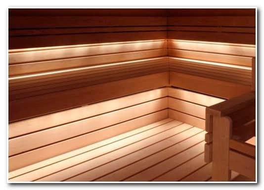 Оптоволоконное освещение бани – пример освещения парилки