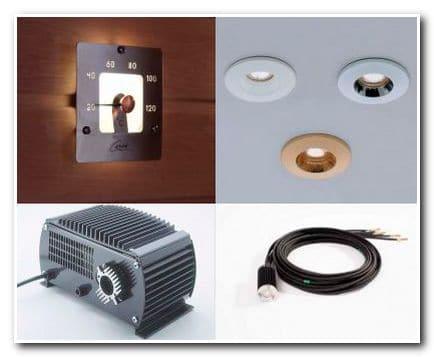 Основные элементы оптоволоконного освещения