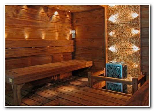 Оптоволоконное освещение бани – пример дизайна