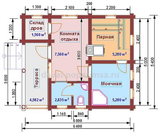 Русская баня – планировка