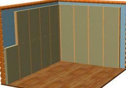 Укладка базальтовой ваты на стены