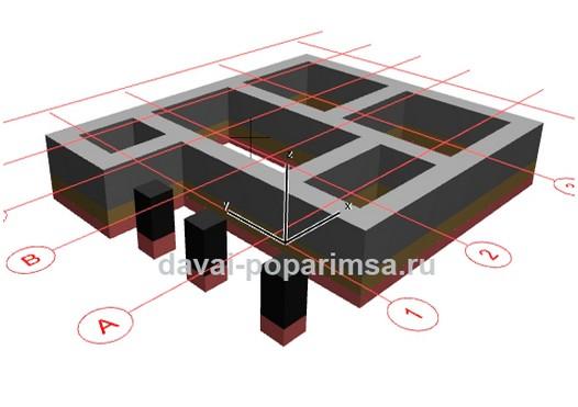 Проектирование фундамента для бани из сруба