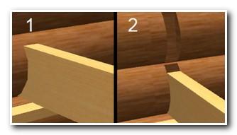 Способы врубки деревянных балок в венцы сруба