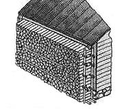 Пристенная поленница для сушки дров