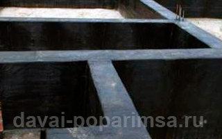 Пример обмазочной гидроизоляции фундамента