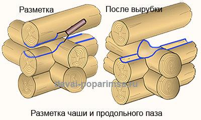 Как срубить сруб в чашу своими руками