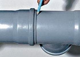 Соединение пластиковых труб - разметка