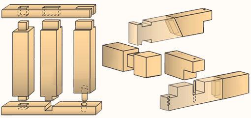 Соединение деревянных деталей - конструкций
