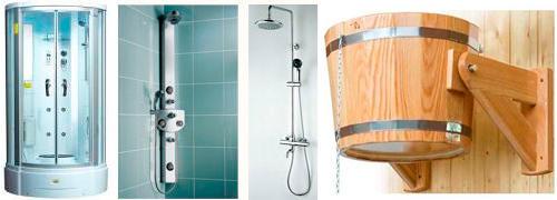 Красивый душ в бане #13