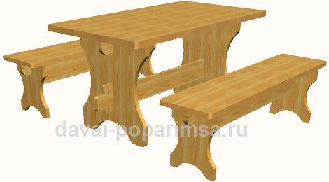 Мебель для бани своими руками – как сделать стол