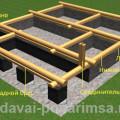 Проектируем первый венец сруба бани 5×6 метров
