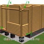 Деревянная баня 5×6 метров – чертежи бревенчатых стен