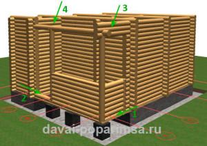 Главный деревянной бани 5x6