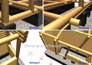 Особенности конструкции бревенчатых стен бани 5x6 метров