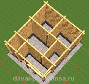 Деревянная баня - вид сверху