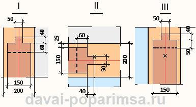 Стыковочные узлы окосячек в оконных и дверных проемах.
