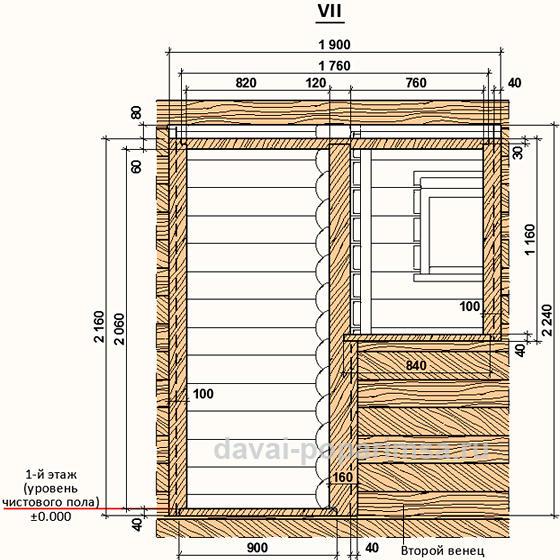 Проем для обсадной коробки для двери и окна.