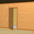 Каркасная деревянная перегородка в бане