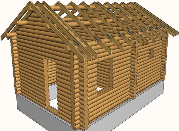 Крыша для бани - порядок сборки