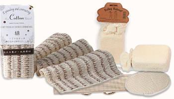 Мочалки для бани из хлопка