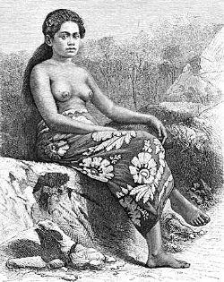 Парео на Таити