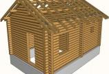 Двухскатная стропильная крыша для бани